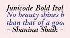 Junicode Bold Italic