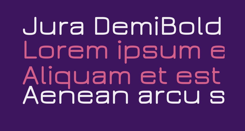 Jura DemiBold