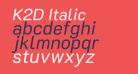 K2D Italic