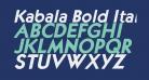 Kabala Bold Italic