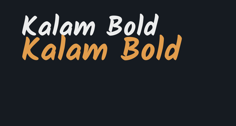 Kalam Bold