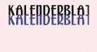 Kalenderblatt Grotesk