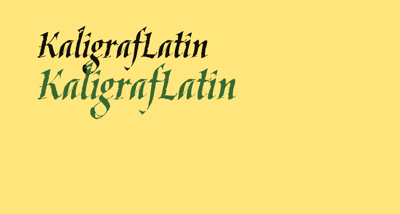 KaligrafLatin
