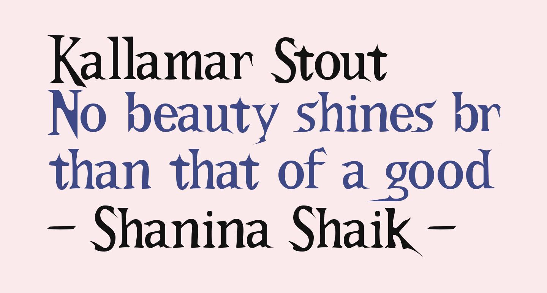 Kallamar Stout