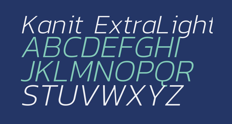 Kanit ExtraLight Italic