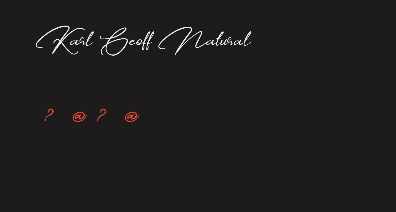 Karl Geoff Natural