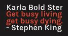Karla Bold Stencil
