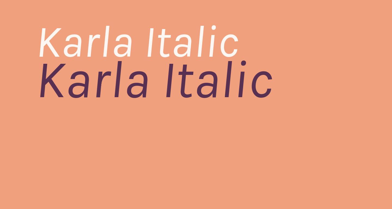 Karla Italic