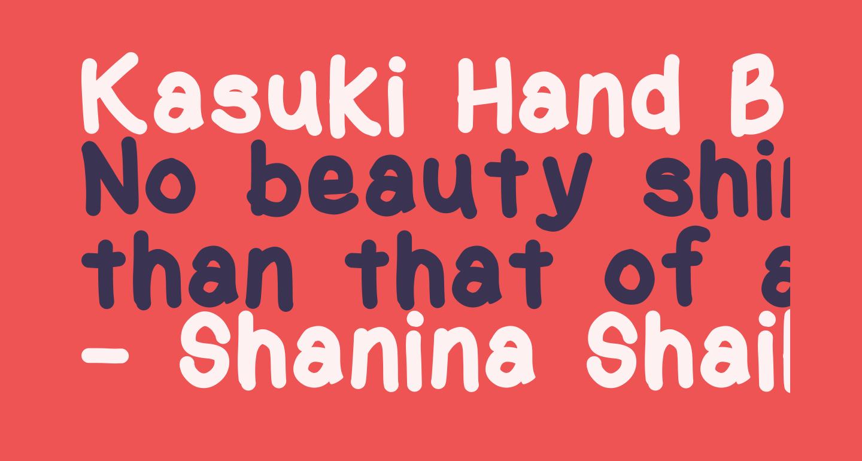 Kasuki Hand Bold
