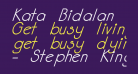 Kata Bidalan Italic Bold