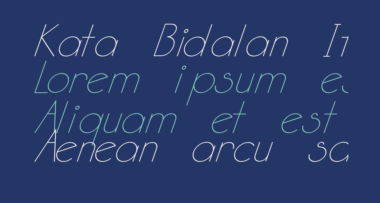 Kata Bidalan Italic