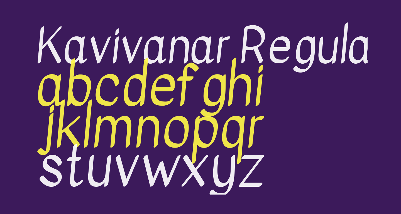 Kavivanar Regular