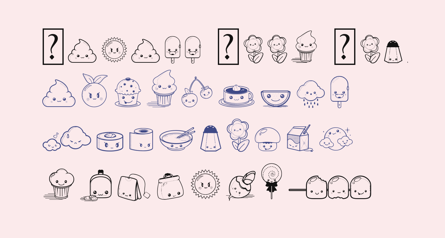 Kawaii Food Font