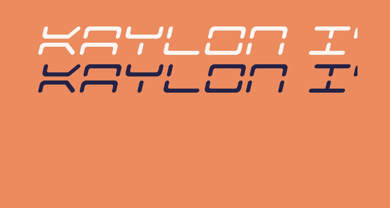 Kaylon Italic