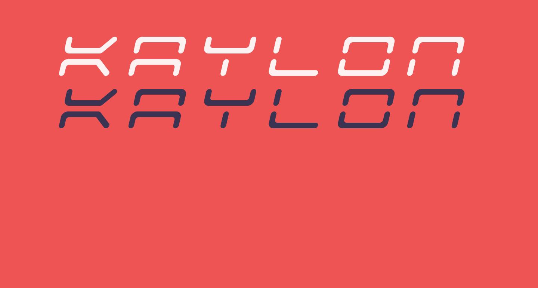 Kaylon Title Italic