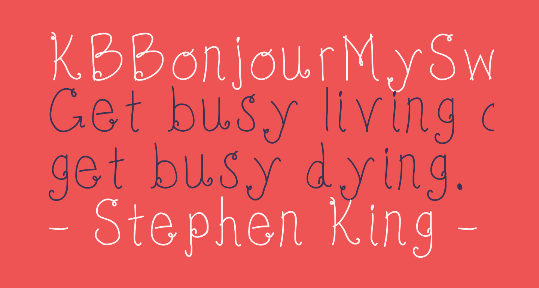 KBBonjourMySweet