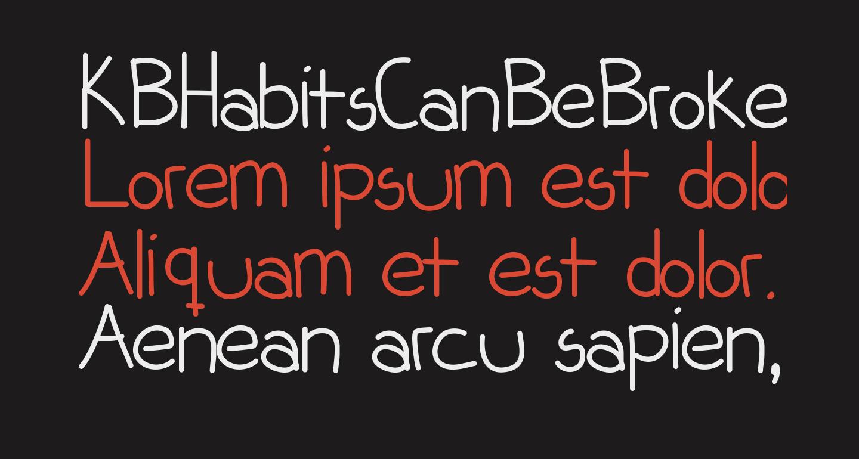 KBHabitsCanBeBroken