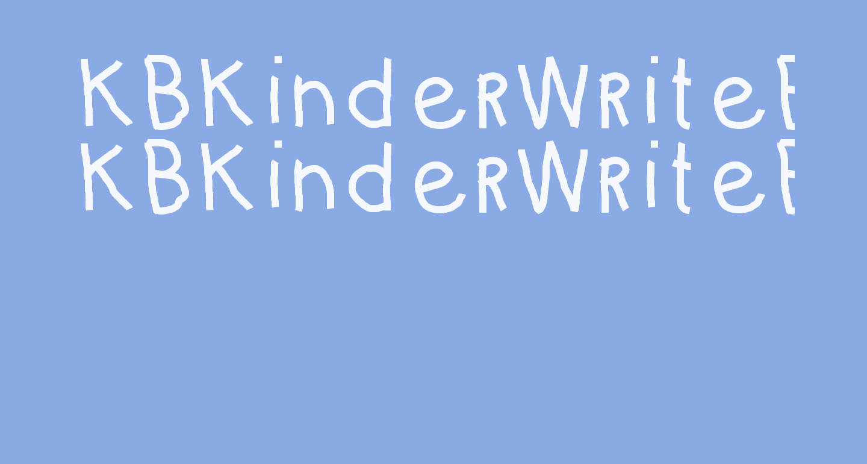 KBKinderWriteBold