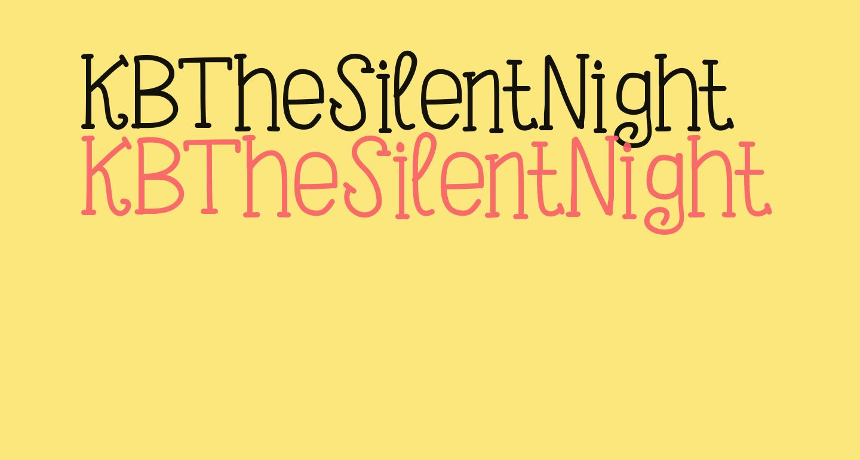 KBTheSilentNight