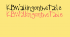 KBWalkingontheTable