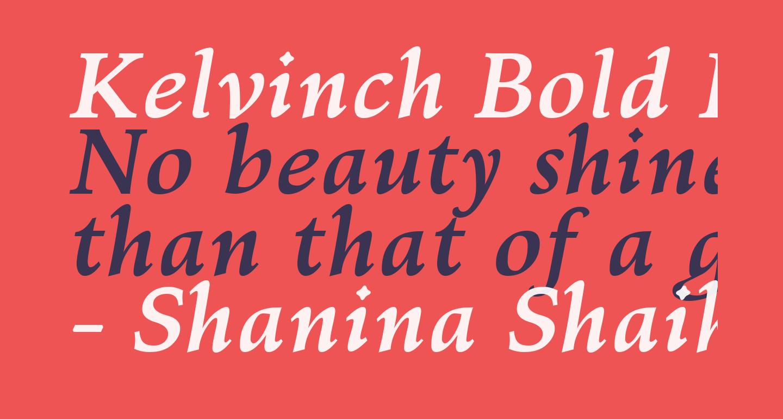 Kelvinch Bold Italic