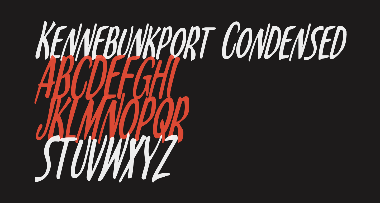 Kennebunkport Condensed Italic