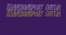 Kennebunkport Outline Italic