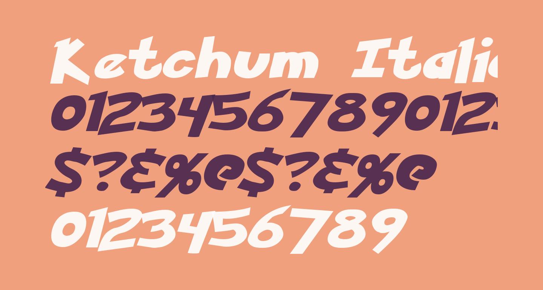 Ketchum Italic
