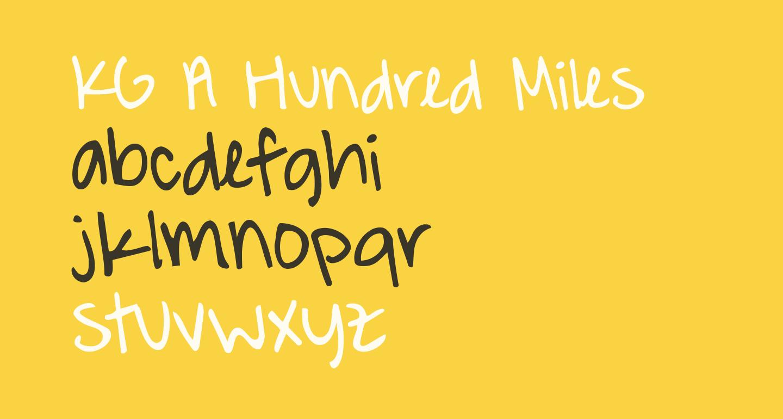 KG A Hundred Miles