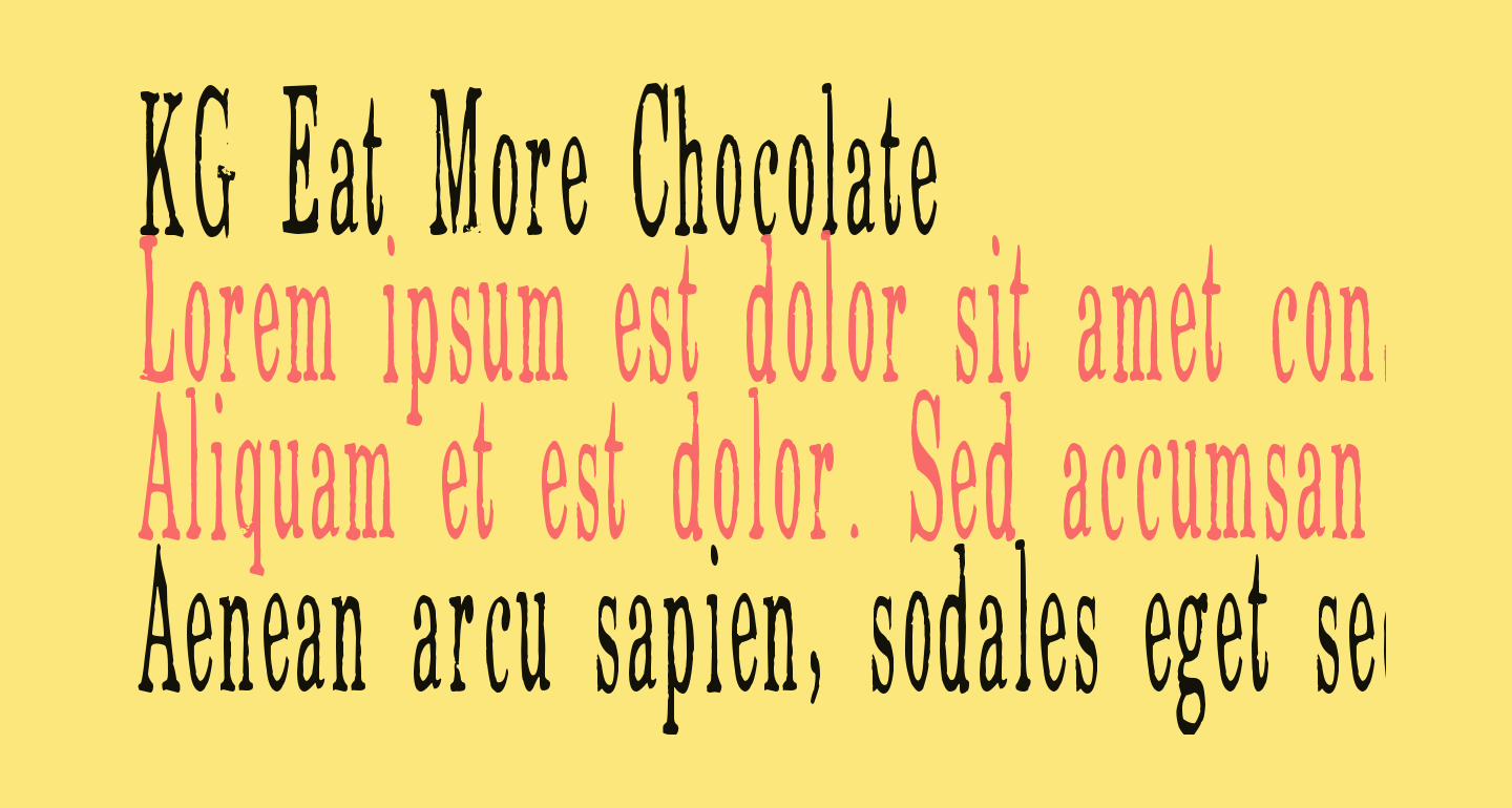 KG Eat More Chocolate