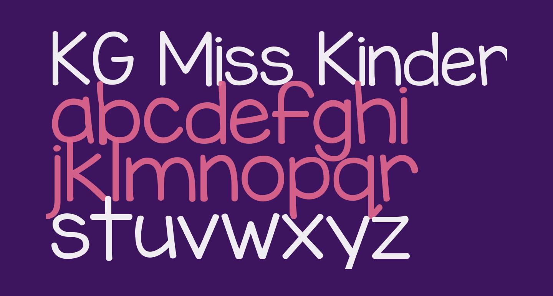 KG Miss Kindergarten