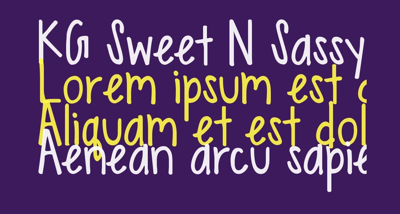 KG Sweet N Sassy