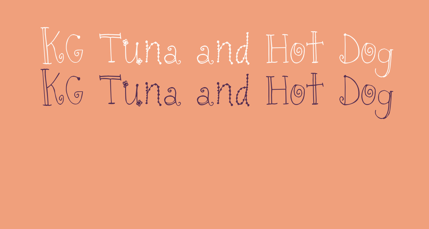 KG Tuna and Hot Dogs on Rye