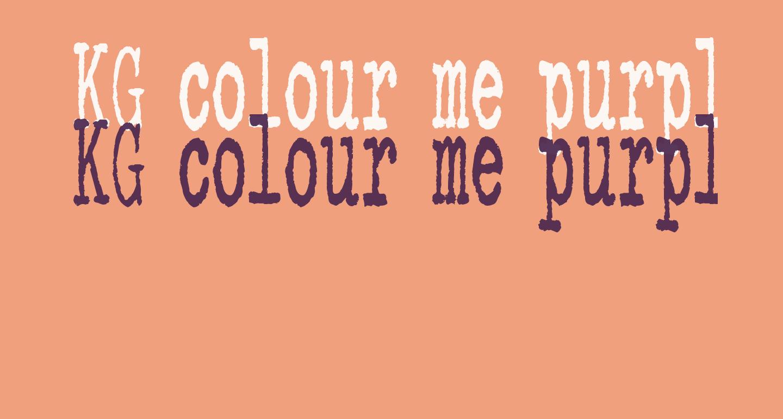 KG colour me purple