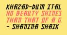 Khazad-Dum Italic