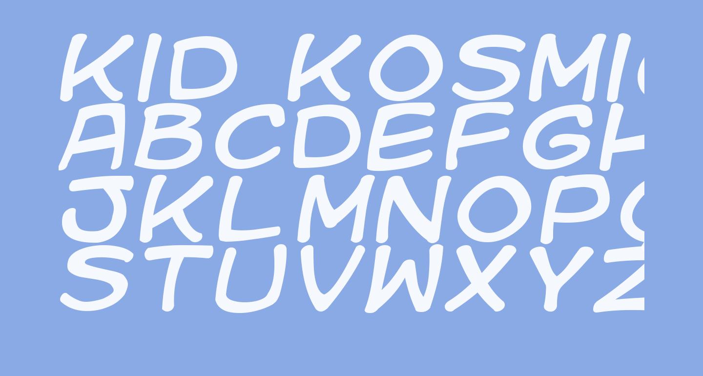 Kid Kosmic Italic