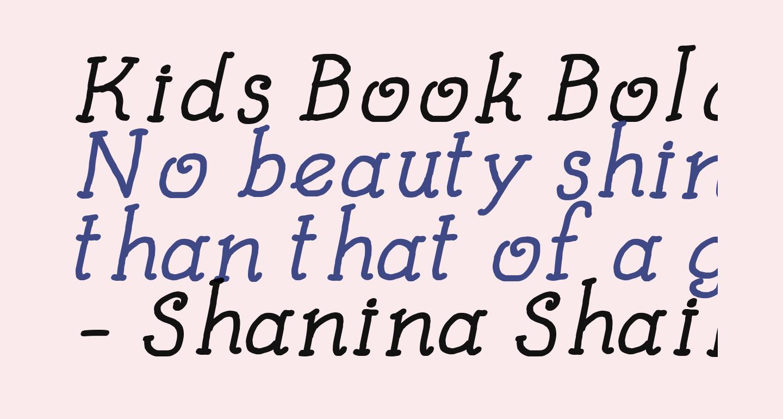 Kids Book Bold Italic