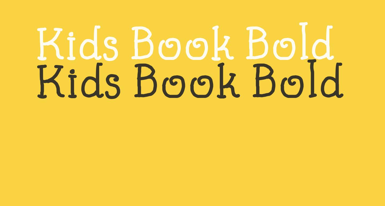Kids Book Bold