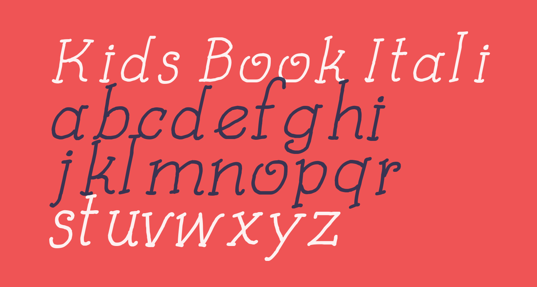 Kids Book Italic