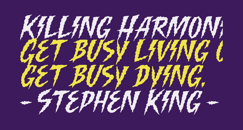 Killing Harmonic