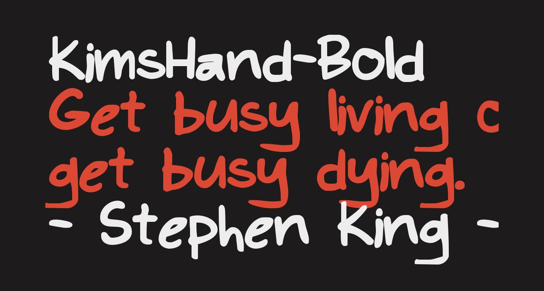 KimsHand-Bold