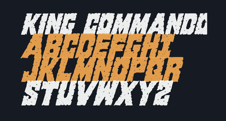 King Commando Condensed Italic
