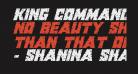 King Commando Riddled II Italic