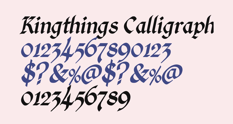 Kingthings Calligraphica Italic