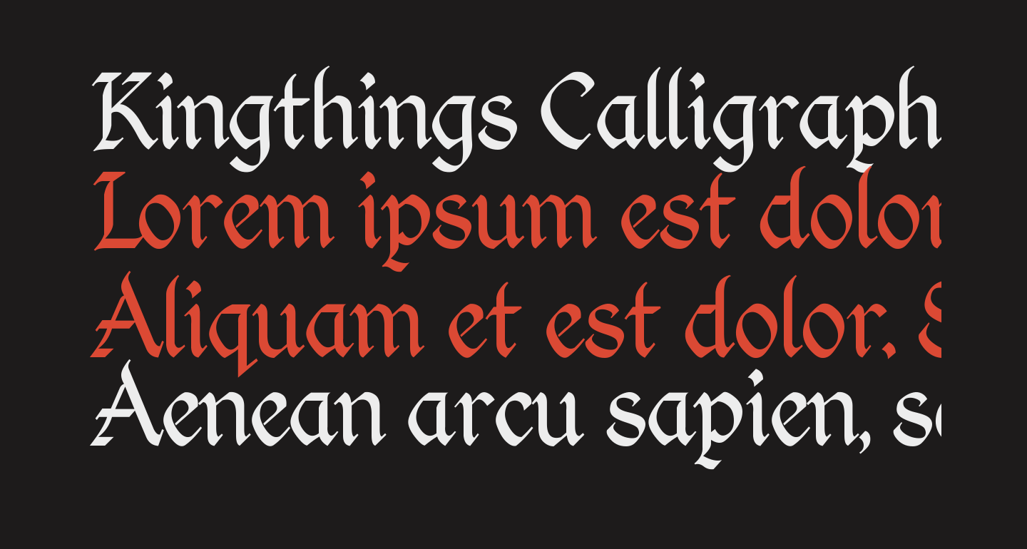 Kingthings Calligraphica Light