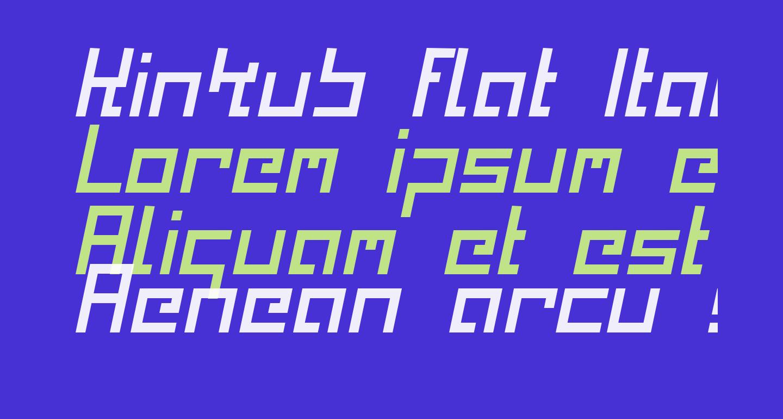 Kinkub flat Italic