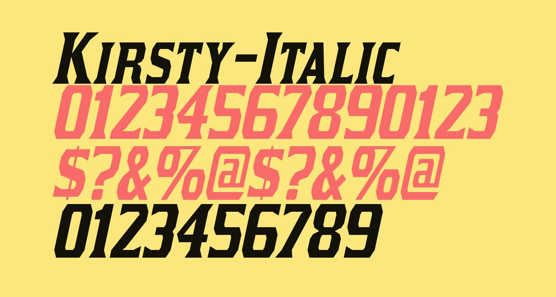 Kirsty-Italic