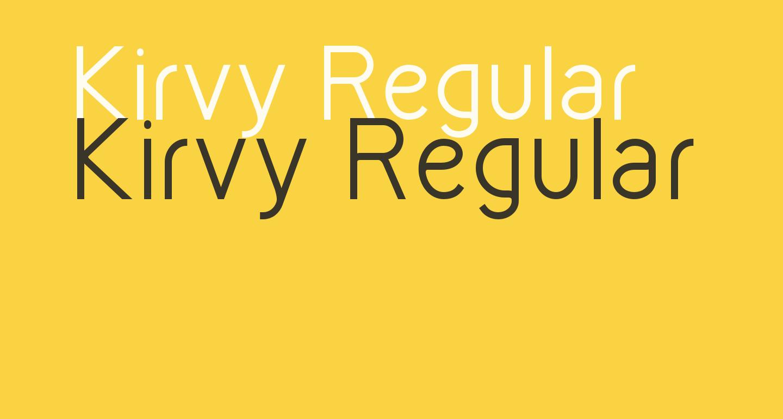 Kirvy Regular