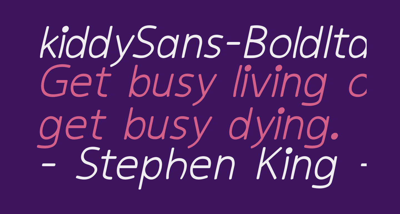 kiddySans-BoldItalic
