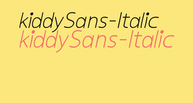 kiddySans-Italic